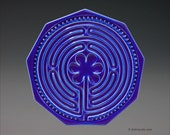 Chartres Finger Labyrinth Petite in Danish Royal Blue