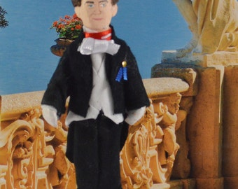 Captain Von Trapp Doll Collectible Art Miniature