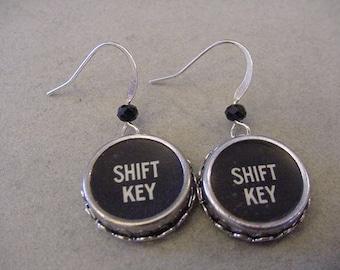 Typewriter Key Earrings Large SHIFT KEY Typewriter key Jewelry