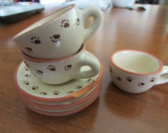 VINTAGE - Bear Paws Mini Tea Set