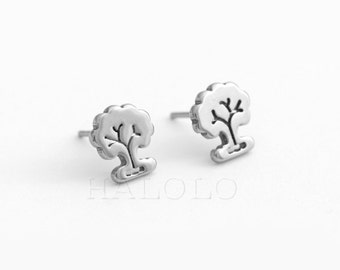 Tree Stainless Steel Earring Post Finding  (E40855)