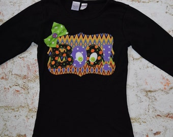 "Girls ""HALLOWEEN BRIGHTS"" collection BOO Googly Eyes-style  tee only in sizes 6-12-18-24 mth 2T -3-4-5-6-8"