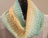 Sand and Sea Hand-Dyed Infinity Scarf