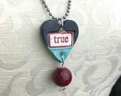 TRUE Stamped Ceramic Necklace