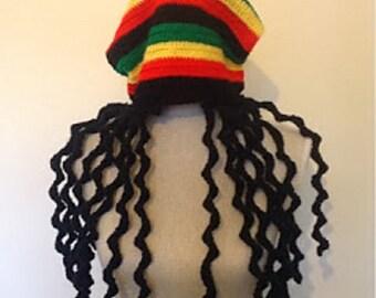 Rasta Beanie Hat - Crochet Pattern