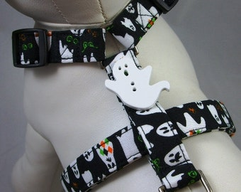 Dog Harness - Halloween Ghosts