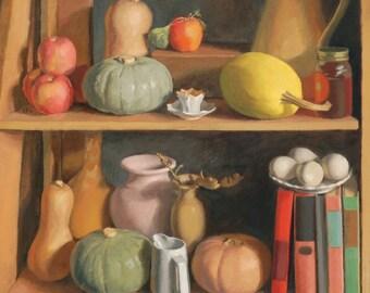 Still Life with Squash - Original Still Life Oil Painting