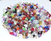 Mixed Loose Beads, Six Ounce Bag, Bead Soup, Glass Beads, Grab Bag, Bead Soup Mix, Destash Jewelry, Craft Supplies, Plastic Beads