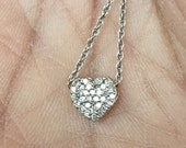 Sweet love 1/10 carat diamond 10K gold heart valentines romance anniversary gift charm necklace pendant