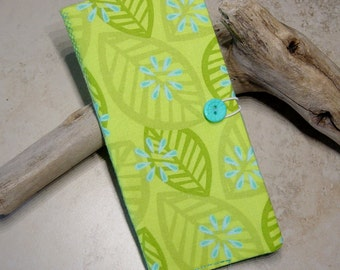 Credit Card Organizer Wallet,Loyalty Card Wallet, Business Card Case, Gift Idea,Chartreuse Green Fabric Wallet, Business Card Wallet