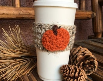 Pumpkin Crochet Coffee Cozy