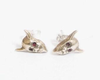 Devil in the Details Stud Earrings in Brass