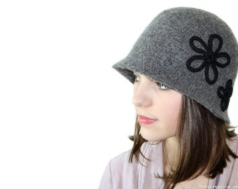 CROCHET PATTERN - Vintage Inspired Felted Cloche - Instant Download (PDF)