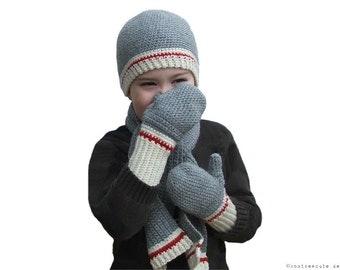 CROCHET PATTERN - Winter Woolies Scarf Set - Instant Download (PDF)