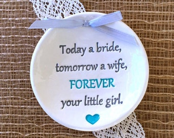 Today a Bride, Tomorrow a Wife Mother of the Bride Gift, Father of the Bride Gift, Wedding Gift For Parents, Wedding Keepsake
