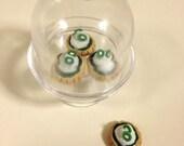 "American Girl Kiwi Shortcake tart in display stand- 18"" doll food, dessert, tarts"