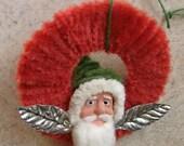 Santa Claus Chenille Wreath Christmas Ornament