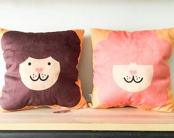 Afro Lion Decorative Stuffed Pillow