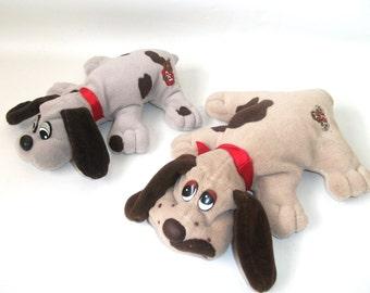 2 Vintage Pound Puppies 1984 Plush Puppy Dogs