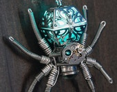 Steampunk Jewelry - Necklace - Glowing Spider