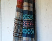 Hickory handwoven winter scarf