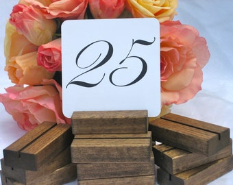 Table Number Holders + Rustic Table Number Holder