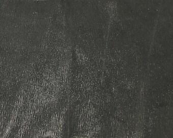 BLACK Shiny STRIPES Cow Hide Leather Piece #2