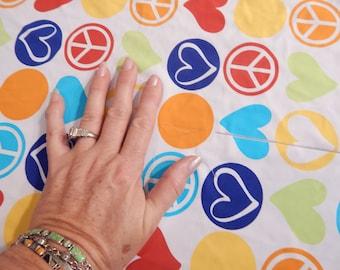 lycra swim fabric, peace sign fabric