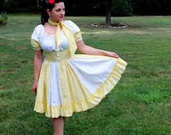 1960s Eyelet Square Dancing Dress