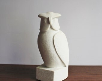 Vintage carved stone owl