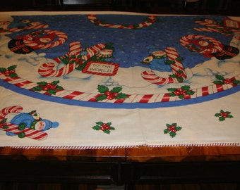 Christmas Tree Skirt Panels (2) to make 1 tree skirt - Daisy Kingdom Pattern Joy - Rare