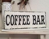 COFFEE BAR SIGN, Wedding Table Sign, Wedding Sign, Coffee Signs, 4 3/4 x 12