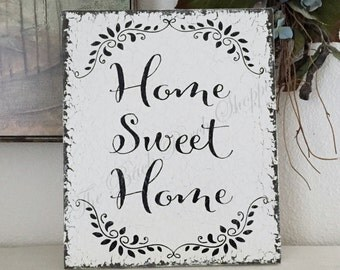 HOME SWEET HOME, Family Sign, Housewarming Gift, Home Decor, Family,  10 x 12