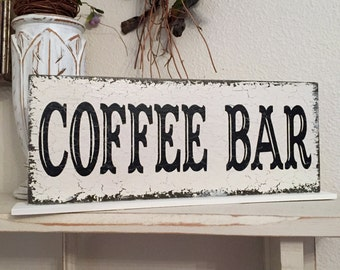 COFFEE BAR SIGN, Wedding Table Sign, Wedding Sign, Coffee Signs, 4 3/4 x 12