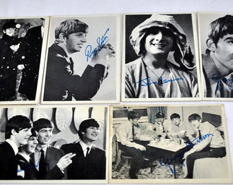 Lot of 6 Topps The Beatles Early 1960s Photo Trading Cards