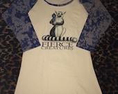 Fierce Creatures 3/4 sleeve Raglan Shirt