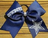 Texas Dallas Cowboys Star NFL Football School Spirit Hair Bow