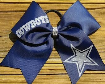 Texas Dallas Cowboys Star NFL Football School Spirit Hair Bow