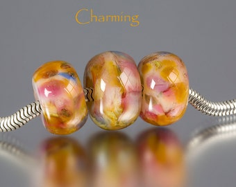 European Charm Bead by BluDragonfly SRA - Big Hole Bead - Charming