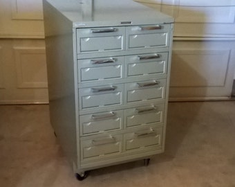 Datacase Steelcase Card Catalogue Cabinet - LOCAL PICKUP ONLY