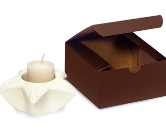 100 Pack Matte Chocolate Brown Paper Tuck Top Style Packaging Retail Gift Boxes 4X4X2 Inch Size