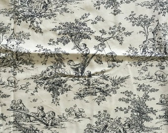 Black and White Toile - Fat Quarter