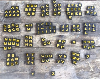 Vintage Anagram Game The Embossing Co vintage Anagrams game with box 150pc Embossed ltr tiles yellow