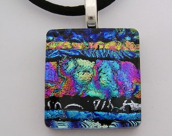 Dichroic glass necklace. dichroic jewelry
