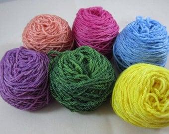 Soft Pastel Mini Skeins 10g/45yds each color