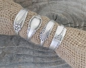 Spoon Napkin Rings Made From Antique Silverware, Set of 4, Lot 5