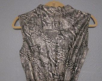 1970's Snakeskin Halter Palazzo Pantsuit Jumpsuit by Alice Polynesian Fashions