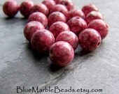 Glass Beads, Round Beads, Mottled, Speckled Beads, Pink Beads, Rustic Beads, Organic Beads, Tribal Beads, Boho Beads, 8mm, 20 Beads