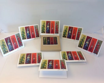 Christmas Monsters Cards - Set of eight