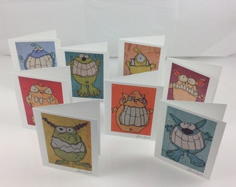 Monster Cards - Set of eight